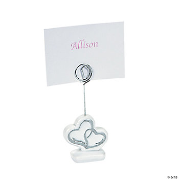Two Hearts Name Card Holders