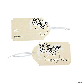 """Thank You"" ""To/From"" Gift Tags"