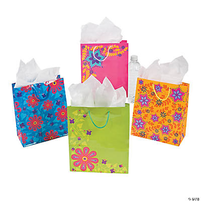Abstract Floral Gift Bags