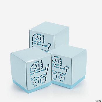 12 Baby Boy Shower Favor Boxes