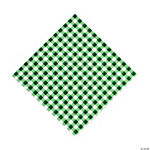 Green Gingham Luncheon Napkins