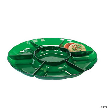 Dark Green Seven Section Tray