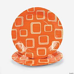 Orange Design Dinner Plates