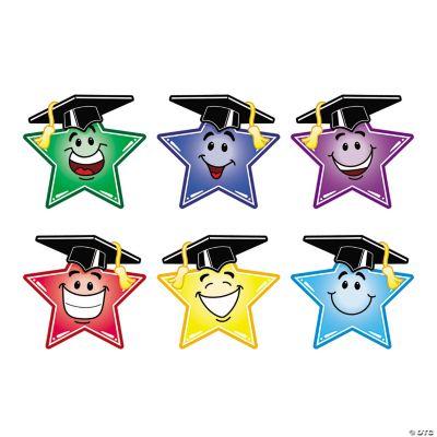 Jumbo Smiley Star Graduation Cutouts