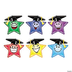 Jumbo Smiley Star Graduation Cutouts