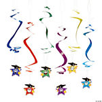 12 Elementary Graduation Star Dangling Swirls