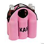 Personalized Pink Six-Pack Cooler
