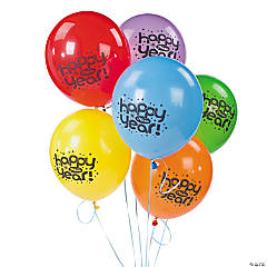 "Latex ""Happy New Year"" Bright Balloons"