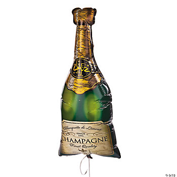 Champagne Bottle-Shaped Mylar Balloon