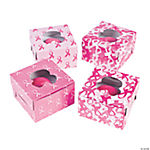 Pink Ribbon Cupcake Boxes