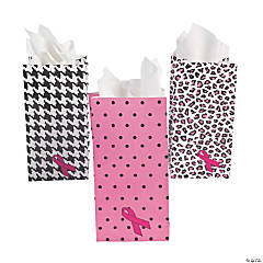Mini Pink Ribbon Treat Bags