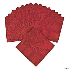 Red On Red Luncheon Napkins
