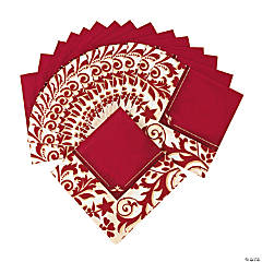 Red On Red Beverage Napkins