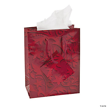 Small Red On Red Wedding Gift Bags
