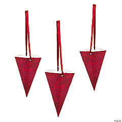 Red On Red Wedding Treat Cones