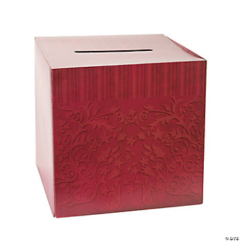 Red On Red Wedding Card Box