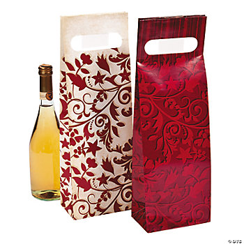 Red On Red Wedding Wine Bags