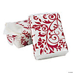 Red On Red Wedding Facial Tissue Packs
