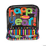 Bright New Years Square Dessert Plates