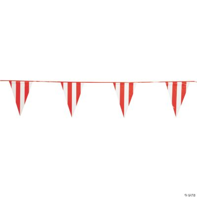 Red & White Pennant Banner
