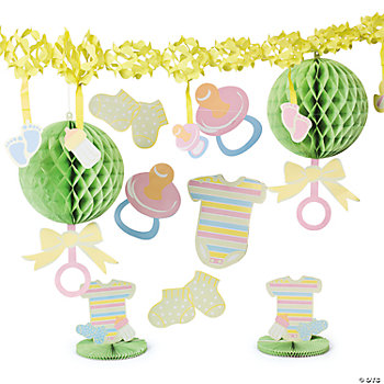 bright baby shower decorating kit decorating kits party decorations