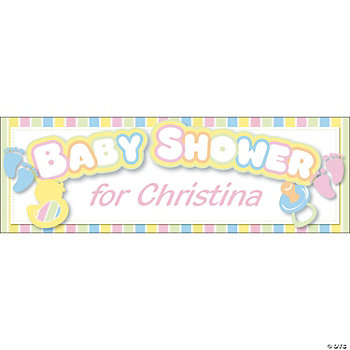 Personalized Baby Shower Banners - Small