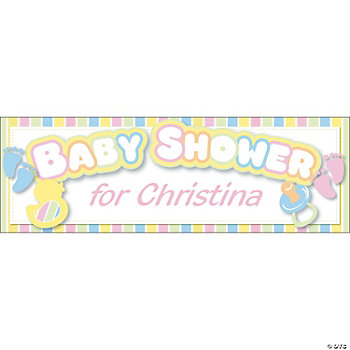 Personalized Baby Shower Banners - Medium