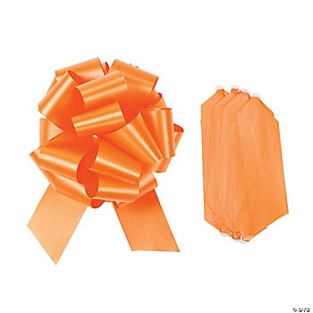 Orange Wedding Pull Bows