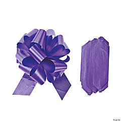 Purple Wedding Pull Bows
