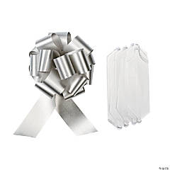 Silver Wedding Pull Bows