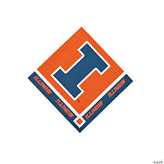NCAA™ Illinois Beverage Napkins