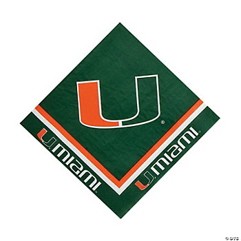 NCAA™ Miami Luncheon Napkins