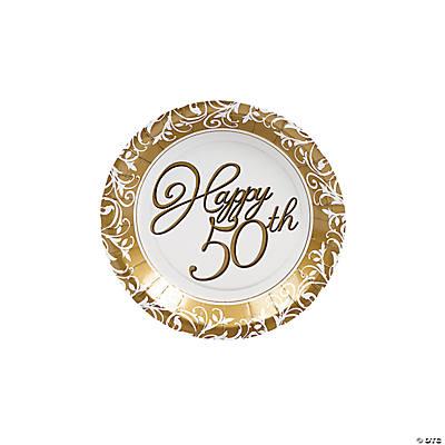 50th Anniversary Dessert Plates Oriental Trading