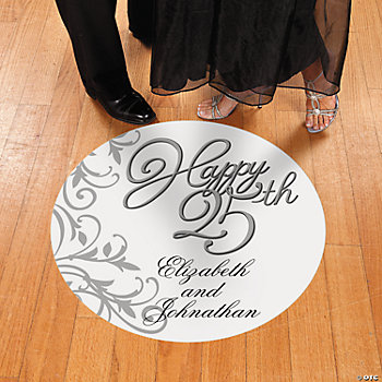 Personalized 25th Anniversary Floor Cling