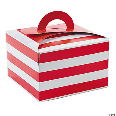 Red & White Striped Cupcake Boxes
