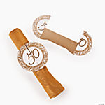 50th Anniversary Napkin Rings