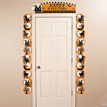 Halloween Silhouette Door Border