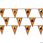 Halloween Silhouette Pennant Banner