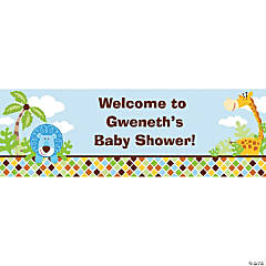 Personalized Safari Boy Banners - Small