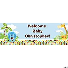 Personalized Safari Boy Banners - Medium