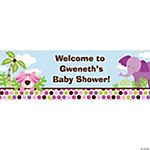 Personalized Safari Girl Banners - Medium