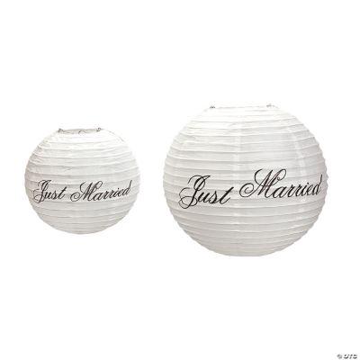 """Just Married"" Lanterns"