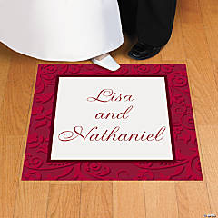 Personalized Red On Red Floor Cling