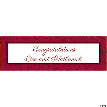 Personalized Large Red On Red Wedding Banner