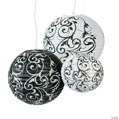 Black & White Paper Lanterns