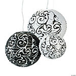 Paper Black & White Paper Lanterns