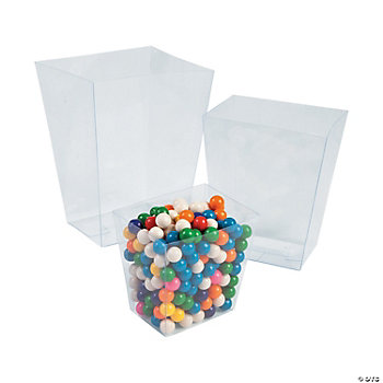 Clear Candy Buckets
