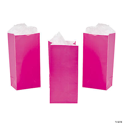 Mini Valentine Treat Bags - Hot Pink