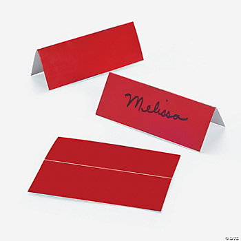 Red Place Cards