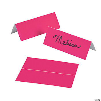 Hot Pink Place Cards